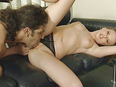 Audrey hollander helps trina michaels to have a double anal 1