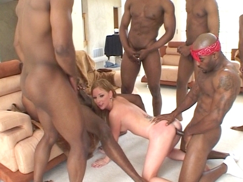 Black gangs love to groupfuck white hottie Alexa Lynn