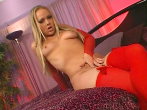 Amber showed up wearing red fishnet arm warmers and matching hosiery and we\'ve never seen her looking better. Amber is aiming to please and gives a blowjob before offering up her warm pussy and tight ass. Lots of bodily fluids drip here and Amber does not walk away thirsty. video