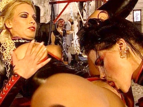 Do punk rock sluts get your blood boiling? What about latex ladies in rubber lingerie? Kristy, Monique Covet and Sophie Paris are fetish goddesses who can\'t get enough cock and want you to watch this hot group sex with lots of cock sucking, pussy plucking, and cum facials!video