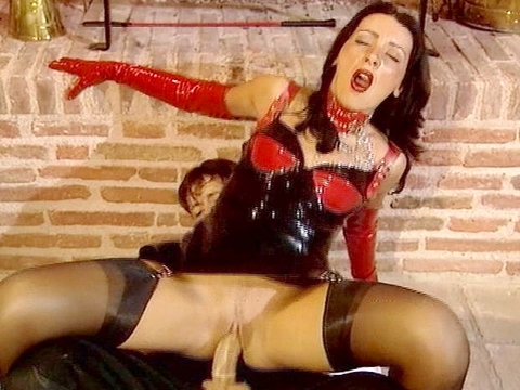Laura Black was all dressed up and ready to party. She brought the little buggy whip but soon was getting her salad tossed and couldn\'t wait to get her ass filled with sausage. Watch this brunette beauty take it all the way in and suck all the cum right out of the condom. video