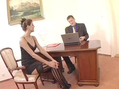 Lucky is an ironic stage name for this brunette Babe. She\'s elegant and fun to fuck which means the real Lucky one is her boss! He has been boning her every weekday for months and he still plans to fire her at the end of the month. Time for a new whore it seems.video